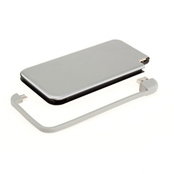 Power bank  Silver, 6000 mAh